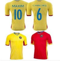 romania-soccer-jersey - DHL shipping Romania home away soccer jersey top thai quality Romania yellow red jerseys soccer football shirt mix order