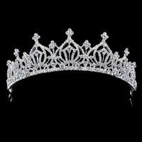 Wholesale Bridal Wedding Crown Bridal Hair Accessories Headwear Jewelry Crystal Tiara Crown Headband