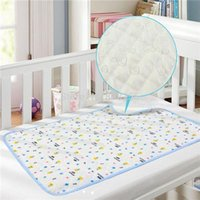 Wholesale 2015 CEO Cotton TPU Layer Urine Pad Reversible Waterproof Baby Changing Mat Breathable Newborn Diaper Random Color Years S M L