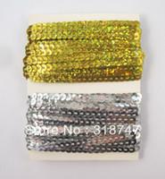 Wholesale 4mm Laser Sequin Ribbon For Wedding Decoration YARDS