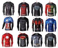 Wholesale The Avengers T shirts Spider Man Superman Ant Man T shirts cartoon Captain America Batman Hulk iron Man Tee tops for big boy C503