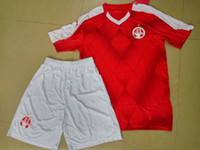 beer kits - Benwon Hapoel Beer Sheva home red football kit short sleeve soccer uniforms athletic outdoor thai quality soccer sets sports jerseys