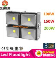 Wholesale 100W LED Chips CREE Led Floodlights W W W W W W W W W Waterproof IP67 Led Outdoor Flood Light AC V
