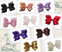 abc of ships - NEW STYLE OF FASHION BLESSING Good Girl Boutique Ruffle Ribbon Inch ABC Hair accessories Bow Clip