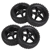 Wholesale Black RC Buggy Front Rear Wheel Rim Rubber Tyre Tires for RC Car