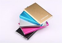 Wholesale Ultra Thin Power Bank mah Xiaomi External battery Powerbank Charger For Mobile Phone iPhone Samsung Tablet
