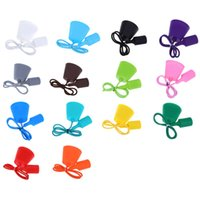 Wholesale E27 Colorful Silicone Ceiling Lamp Holder with Rope Cord Fashion Cute Light Covers Shapes for Dinning Room Bedroom