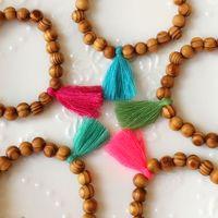 beads accessories design - Original design tassel brown wood bead for women strand bracelet DIY Handmade jewelry accessories B1038