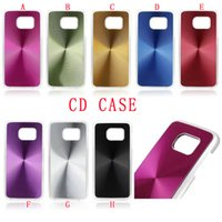 plastic cd covers - Aluminum CD Bling Hard PC Phone Case Chrome Brush Wiredrawing Alloy for IPhone SE SE E Samsung Galaxy S7 G9300 EDGE PLUS skin Cover Luxury