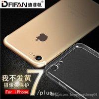 Iphone 7 más el caso, nueva manera, transparente, las cajas del teléfono celular de la resistencia de la gota, envío libre 100 PC venden al por mayor 004