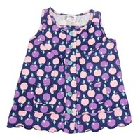 Wholesale Summer girls round neck embroidered sleeveless cotton simple and natural miniskirt