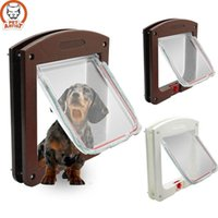 Wholesale Dog Cat Flap Doors with Way Lock for Pets Entry Exit Newly Designed Model White Brown SI