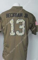 america services - NIK Elite Giants Soccer rugby Odell Beckham Jr Royal Salute To Service Mens Army Green Stitched Embroidery Logos America Football Jerse
