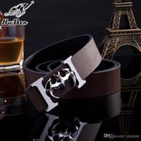 Wholesale original designer Big buckle f belts men high quality mens belts luxury men designer leather belt free epacket shipping