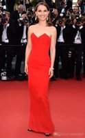 Wholesale 2016 Natalie Portman Cannes Film Festival New Sweetheart Sheath Sexy Bones celebrity Dress Customized Red Carpet Gowns Floor Length Dresses