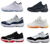 retro 11 bred - 2016 Retro low Navy Gum Blue Concord Bred Legend Blue Gamma Blue Space Jam Retro Basketball Shoes Men s s Sneakers