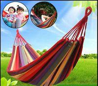 Wholesale 2016 Hot Sale Nature Style Light Weight Fashion Durable Easy Installation Portable Parachute Garden Canvas Hammock