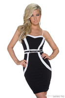 Wholesale 2016 New Arrivals Sexy Club Dresses Hot Ladies Bodycon Dress Sleeveless Slim Low cut Party Plus Size Dresses For Women