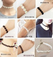 ace bracelet - Hot Selling Handmade Vintage L ace Tattoo Cho ker Ne cklace Bracelet Jewelry Sets Women Fashion Lece Daisies Bracelet Nec klace Sets