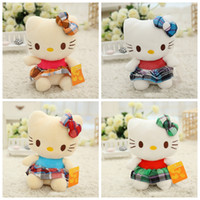 5-7 Years Unisex Video Games 4 Styles Hello Kitty Plush Toys 8 Inch Cute KT Cat PP Cotton Stuffed Dolls Top Quality Cartoon Plush Dolls For Girl Birthday Xmas Gift
