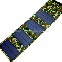 Wholesale Waterproof Portable Solar Power Panels Camouflage Environmental Protection Universal USB for Cell Phones PDA MP3 MP4 Digital Cameras