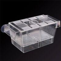 acrylic fish tank prices - Best Price Large Plastic Transparent Fish Aquarium Breeding Boxes Double Guppies Hatching Incubator Isolation Acrylic Tanks