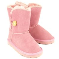 Wholesale new Children s snow boot parent child cowhide boots snow boot waterproof leather boots in the color pair