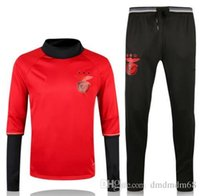 bamboo vest - Benfica Training Wear Soccer tracksuits Best quality survetement football training suit sweat soccer Benfica Training Wear