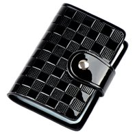 Wholesale Fashion quality wallets holders slots business check pattern leather card holder colors hot sale