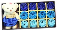 Wholesale Creative Handmade Rose flowers body wash Soap Wedding Gifts Birthday Gifts colors Wedding Favor with box