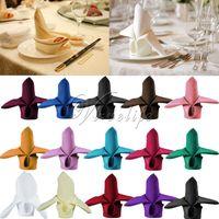 Wholesale 12 quot x12 quot Linen Napkin Polyester Napkin Handkerchief Cloth Diner Banquet Wedding Party Home Decorations x30cm