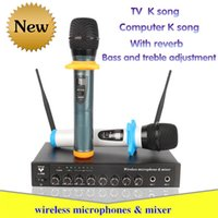 Wholesale EPXCM X wireless microphones One with two TV home computer K song