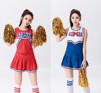 american football uniforms - Baseball Football Cheerleading Glee Costume Aerobics Clothing Uniforms for Performances Sleeveless Dress Size S M L XL XXL WY6939