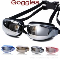 Wholesale Plain Glass Spectacles Adult Swimming Goggles swimming Diving glasses HD waterproof Anti fog