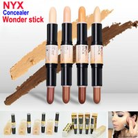 base sticks - Double ended Contour NYX Wonder Stick Foundation Hide Blemish Dark Circle Cream Concealer Pen Base Liquid Contouring Camouflage Cosmetics