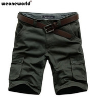 Wholesale WEONEWORLD Plus Size Mens Overalls Fashion Shorts for Man Bermuda Loose Casual Cargo New Summer Fifth Trousers