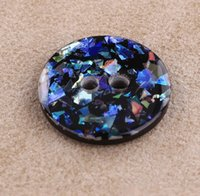 Wholesale 18MM rainbow colorful shinny glitter holes blue resin buttons fabrics and sewing clothes boots coat accessories