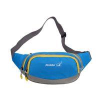 Wholesale 7 Colors Outdoor Waterproof Nylon Waist Bag Sport Casual Bag Mountaineering Unisex Women Men Waist Packs Sling Chest Shoulder Bags MWP008