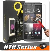 Wholesale HTC Desire Tempered Glass HTC One A9 M7 M8 M9 Screen Protector for HTC clear film protection with H Hardness mm
