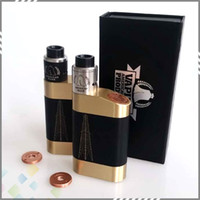 battery contacts - Newest The Rig Pig Kit with Rig Pig Box Mod Roughneck RDA fit Battery with Full Copper Contacts High quality DHL Free