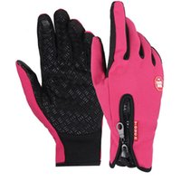 Wholesale Cycling Gloves Winter warmth Touch screen gloves windstopper fleece gloves outdoor ski ride full finger s fleece Riding bicycling gloves