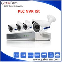 Wholesale HD P PLC NVR Kit CCTV Camera Kits Plug and Play Installation Super Easy No Need any Cable Support Mobile Monitor