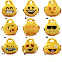 Wholesale Children Backpacks Emoji Messenger Bag Cross Handbag Bag Kids Cartoon Plush Mini EXpression School Bag For XMAS Gifts Style