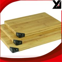 Wholesale TAIDEA New Style Atural mm Square Bamboo Cutting Board With Knife Sharpener Big Bamboo Bhopping Board T0924T