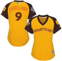 american nick - 2016 Baseball All Star Detroit Tigers Jersey Womens Nick Castellanos American Yellow Baseball Jerseys Name Number All Stitched