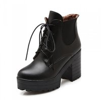 big boot band - Women Martin Boots Women Boots Mujer Ankle Boot Winter Square Heel Female Knight Short Boots Big Yards