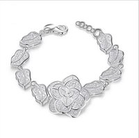 Style de fleur 925 Bracelet de chaîne en argent Plaqué argent 925 Argent Infini Bracelets Bracelets Accessoires Bijoux