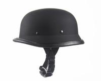 german helmets - 2016 New Universal Hot Matte Black Helmets German Army Helmet DOT Helmet for Harley Retro Helmets Half Summer Helmet Scooters