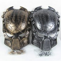 Wholesale Vivid Alien Movie Peripheral Product Supper Exquisite Replica AVP Predator Mask Metallic Detail Good Quality Film Prop