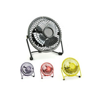 Wholesale Carkitscenter Metal Mini Protable PC Laptop USB Fan Degree Rotation Ultra quiet Summer Home Office Desk Electric Cooling Fan Free Ship